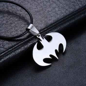 Slippy Bat Batman Sign Stainless Steel Necklaces Pendant