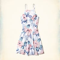 Girls Lace-Up Woven Skater Dress | Girls Dresses & Rompers | HollisterCo.com