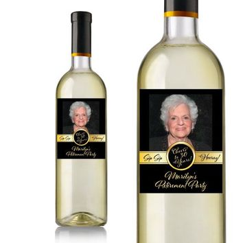 Photo Retirement Wine Labels