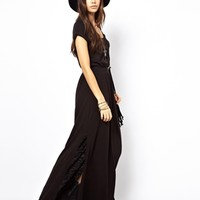 Free People Wham Bam Maxi Dress with Side Split at asos.com