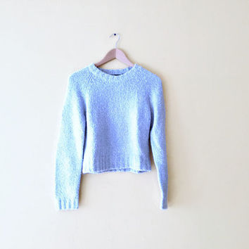 Vintage 90s Cropped Fuzzy Sweater - Fuzzy from Independent Market