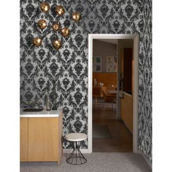 Tempaper® Double Roll Removable Wallpaper in Damsel Metallic Silver
