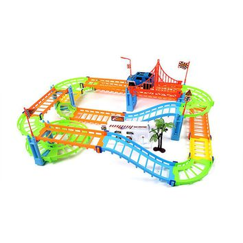 Spiral Track Roller Coaster Toy Electric Rail Car