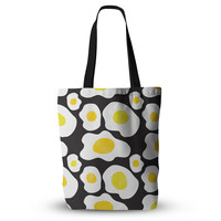 "Vasare Nar ""Fried Eggs Pattern"" Yellow Pop Art Everything Tote Bag"