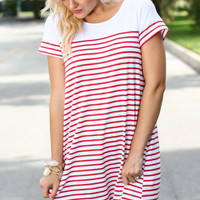 Deck Dress - Red