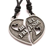 Vietsbay Jewelry's Best Friends Ying Yang 5 Pewter Necklace Pendants
