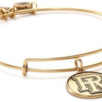 Alex and Ani Collegiate University of Rhode Island Logo Expandable Rafaelian Gold-Finish Wire Bangle Bracelet