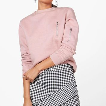 Avalon Drop Hem Gingham Mini Skirt | Boohoo