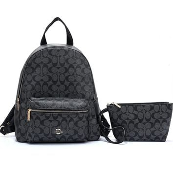 Coach hot seller of shopping backpacks with fashionable ladies' casual printing and color stitching #2