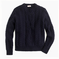 J.Crew Mens Wallace & Barnes Shetland Wool Cable Sweater
