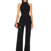 Brandon Maxwell Bow Back Jumpsuit in Black | FWRD