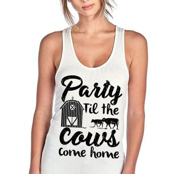 Party Til The Cows Come Home Design Racer Back