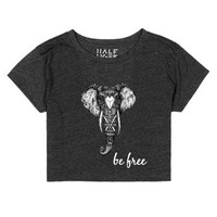 be free-Unisex Heather Onyx T-Shirt