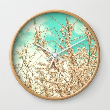Blossoms Wall Clock by ARTbyJWP