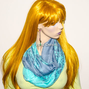 Multi Color Tone Infinity Scarf,  Holiday Stocking Stuffer