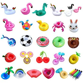 Air Mattresses for Cup Inflatable Flamingo Drinks Cup Holder Pool Floats Bar Coasters Floatation Devices Pink  Toy Drink Holder