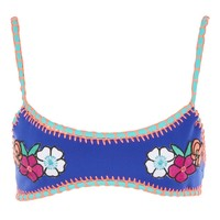 Embroidered Crochet Crop Bikini Top | Topshop