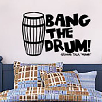 Inspired by Moana Wall Decal Sticker Bang the Drum Gramma Tala