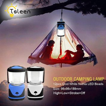 TSLEEN NEW Portable Linternas Collapsible LED Camping Lantern Flashlight Outdoor Light Waterproof Tent Light Camping Night Light