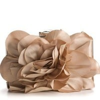 Lulu Townsend Flora Box Clutch - Black