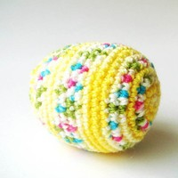 Easter Eggyellow colorful cute by sabahnur on Etsy