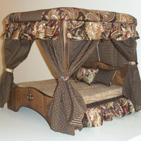 Emperor's Canopy Bed by CrossBoneDog on Etsy