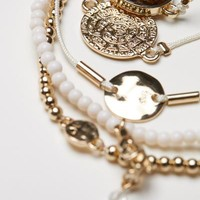 5-pack bracelets - Gold/White - Ladies | H&M GB
