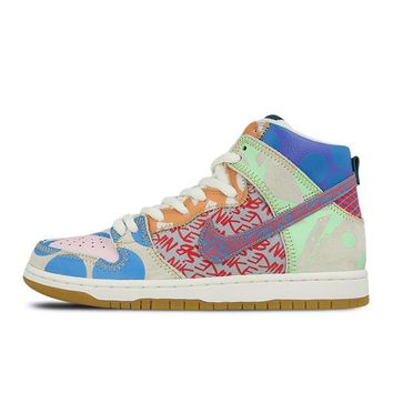 Nike SB What The Dunk High Anti-Slippery Men's Skateboarding Shoes Sports Sneakers