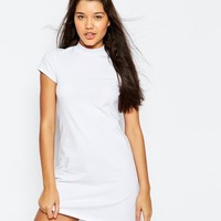 ASOS A-Line Shift Dress with High Neck at asos.com