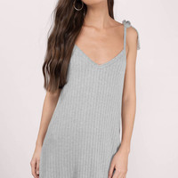 Bell Ribbed Shift Dress