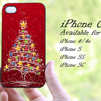 Christmas tree star design iphone case for iphone 4 case, iphone 4s case,iphone 5 case, iphone 5s case, iphone 5c case