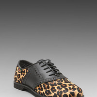 Bass Enfield 3 Oxford in Black/Leopard from REVOLVEclothing.com