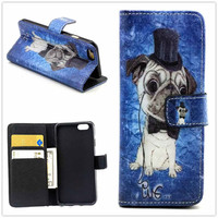 Hight Qulity Dog Print PU Leather Case Cover Wallet for iPhone 6 / iPhone plus
