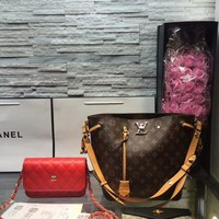 Year-End Promotion 3 Pcs Of Bags Combination (LV Bag ,Chanel Mid Bag ,Gucci Wallet)