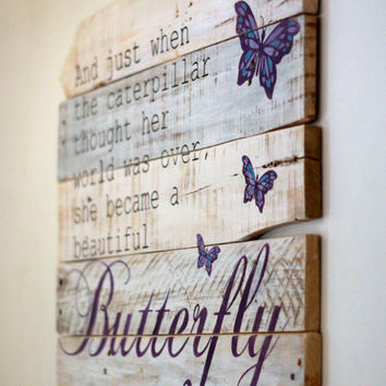 Wood Wall Art Quotes shop pallet quote on wanelo