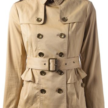 Burberry Brit Short 'Faille' Trench Coat