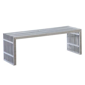 Zeta Stainless Steel Bench Long, Silver