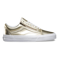Metallic Leather Old Skool Zip | Shop Womens Shoes at Vans