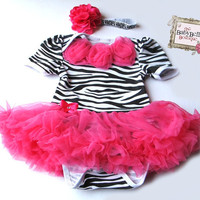 Black and white Baby Zebra Onesuit and by TheBabyBellaBoutique