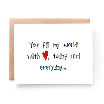Valentine for Boyfriend - Valentine's Day Card - Valentine for Her - Wife - Husband - Girlfriend