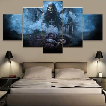 Canvas Wall Art Pictures For Living Room Home Decor 5 Piece Avenged Sevenfold Painting HD Printed Movie Game Poster Frame PENGDA