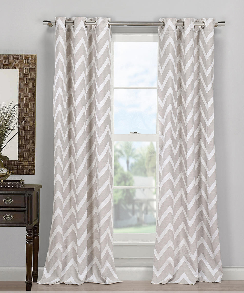 Gray Behrakis Zigzag Curtain Panel Set From Zulily Go To Your