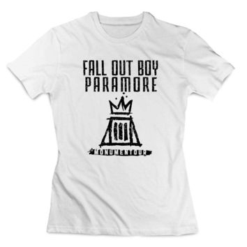 Fall out boy paramore white Clothing T shirt Women