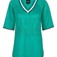 Logo Mesh Tee by Ivy Park - Topshop