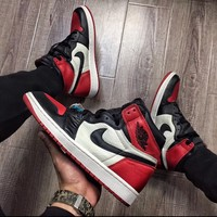 "Air Jordan 1 Retro ""Bred Toe"" 2018 Size 9 *UNRELEASED PAIR* [READ DESCRIPTION]"