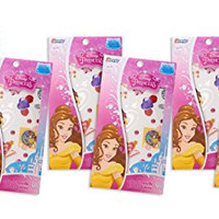 Pack of Six (6) Disney Princess Belle From Beauty and the Beast Metallic Jewelry Temporary Tattoos (6-pack)