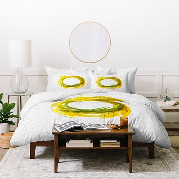 Viviana Gonzalez Abstract Circle 1 Duvet Cover