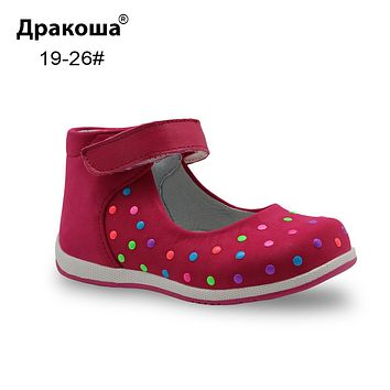 Spring Summer Genuine Leather Children Shoes for Girls Kids Girls Sandals Baby Toddler Girls Flats Casual Shoes
