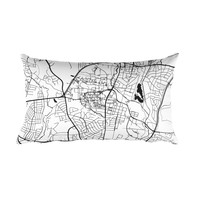 College Park Map Throw Pillow