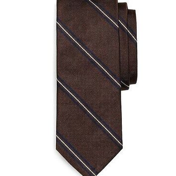 Own Make Framed Thin Stripe Tie   Brooks Brothers